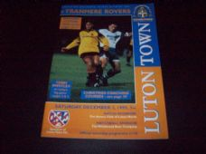 Luton Town v Tranmere Rovers, 1995/96